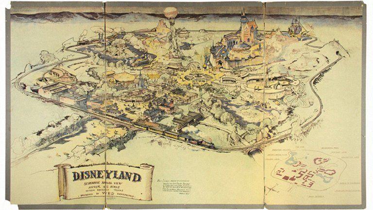 Historic Disneyland Maps