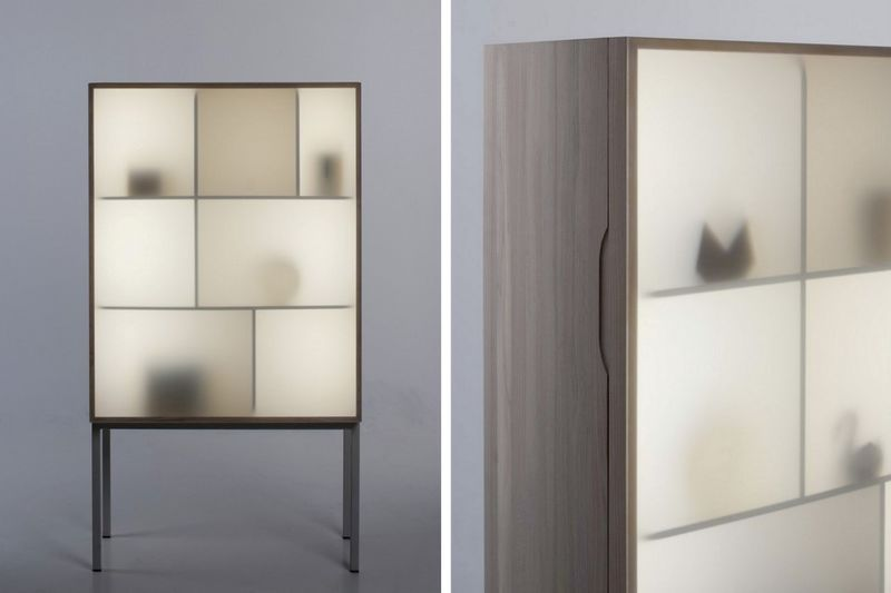 Subtle Silhouette Storage Cabinets