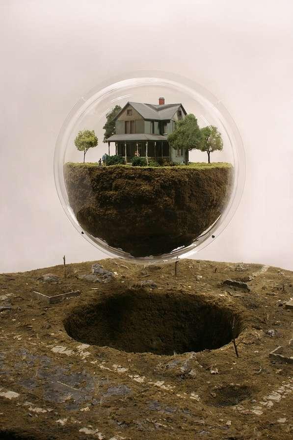 Buoyant Bubble Dioramas