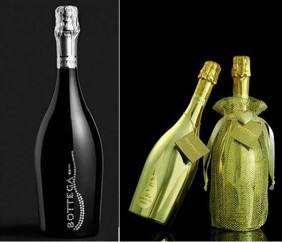 Golden Booze Bottles