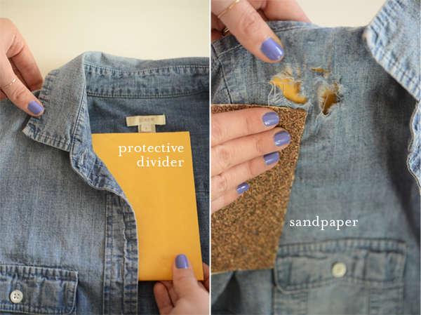 DIY Jean Shirt Embellishments