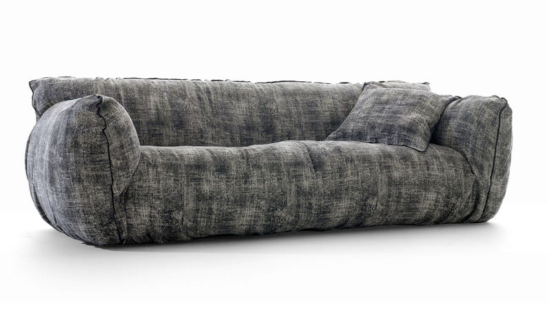 Distressed Plush Sofas