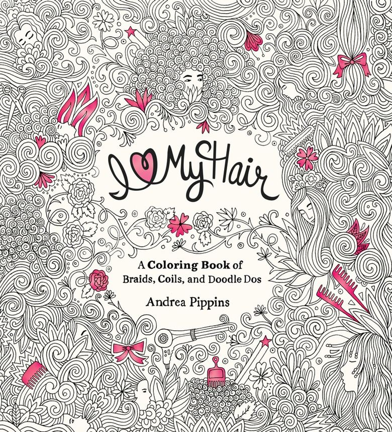 Hairstyle Coloring Books : diverse hairstyles