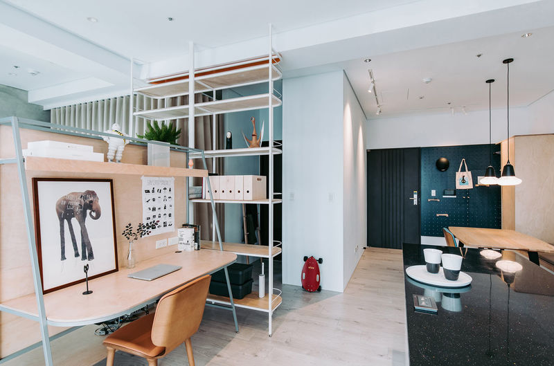 Chic Contemporary Divided Apartments