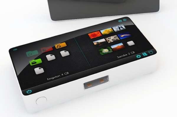 Tiny Touchscreen File Transferrers