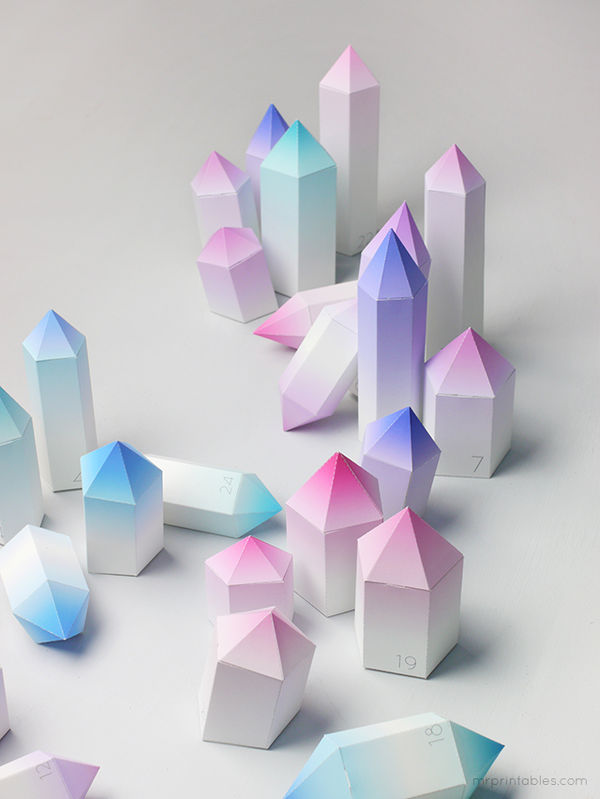 Crystalline Paper Advent Calendars