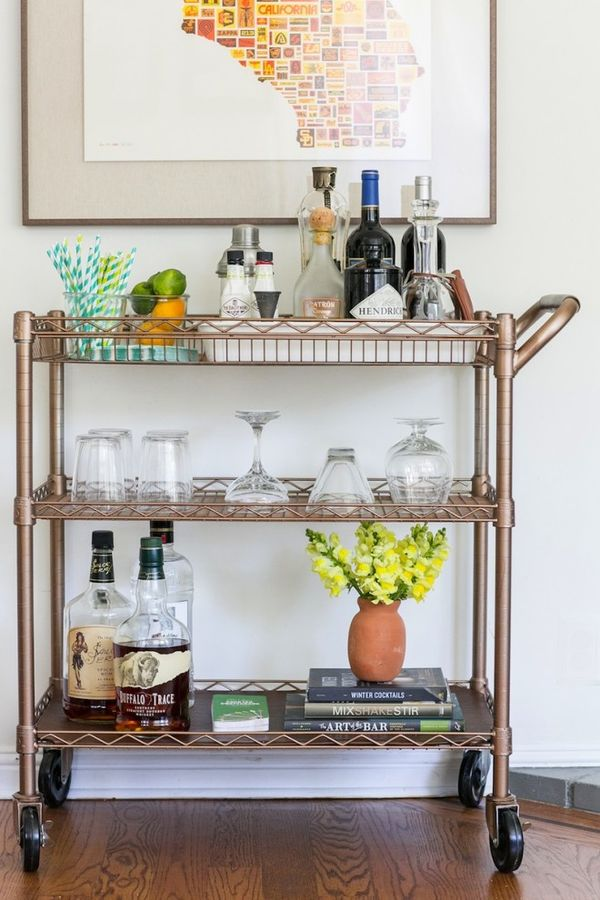 Chic Bar Cart Accents