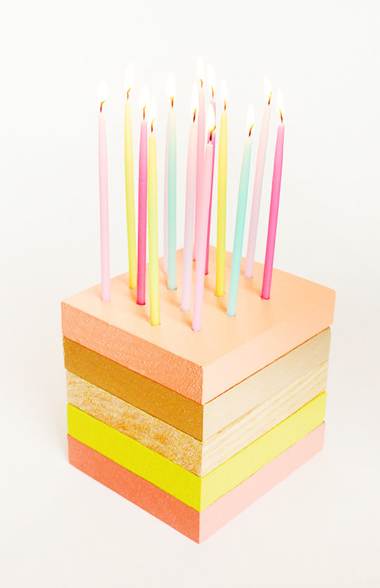 Wooden Birthday Cakes