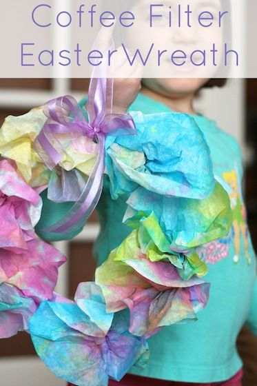 Artsy Mulitcolored Easter Wreaths