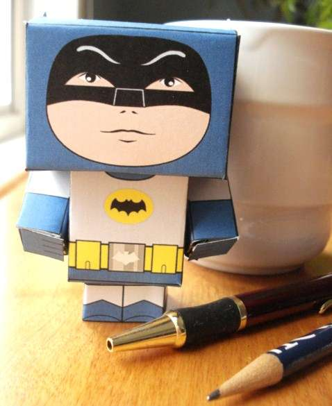 diy paper heroes  cubee craft