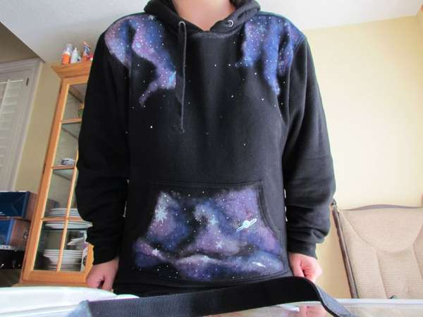 DIY Star Swirled Hoodies