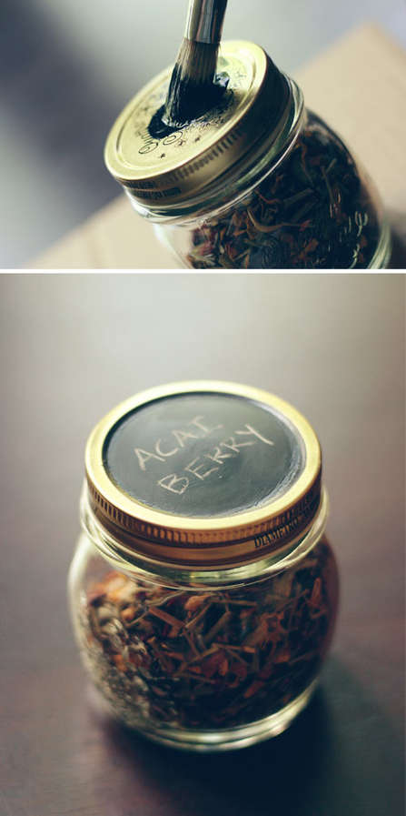 Reusable Chalkboard Tea Canisters