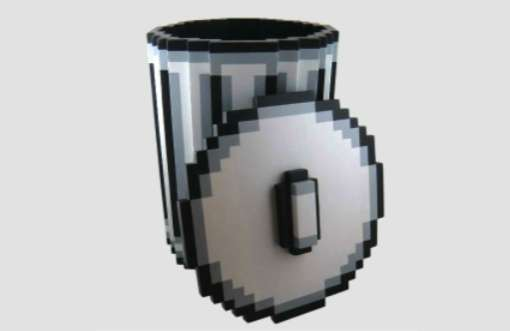 Pixelated Garbage Pails