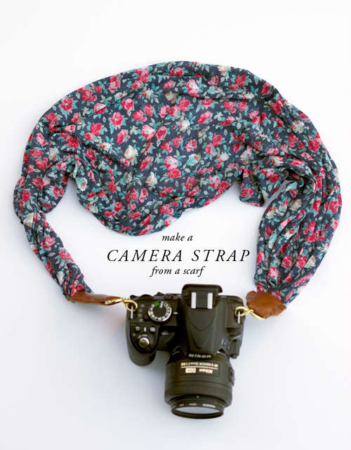 DIY Scarf Camera Straps