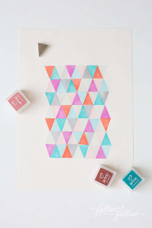 Diy Stamped Geometric Decals Diy Stamp Art