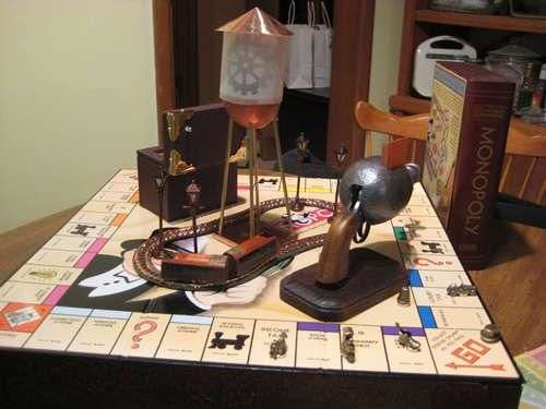 Steampunked Monopoly The Popular Board Game Goes