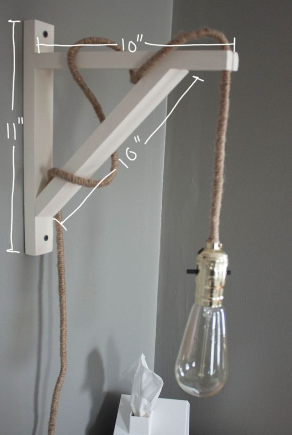 Crafty industrial illuminators diy wall lamp for Diy wall lighting