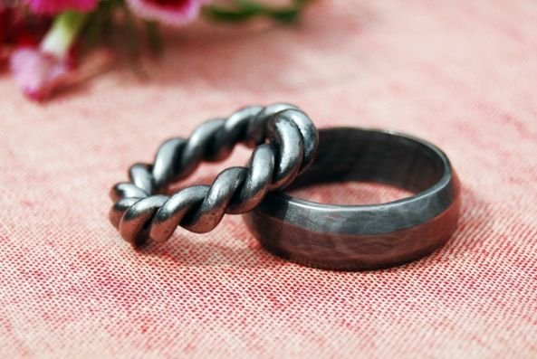 Romantic Metalwork Rings DIY Wedding rings
