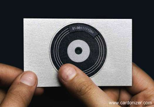 Self Promoting Turntables DJ Business Cards