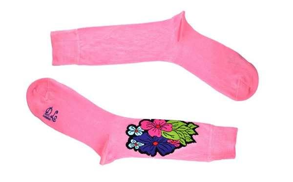 Bright Summer-Themed Socks