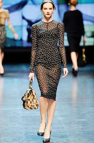 Sheer Polka Dot Dresses Dolce And Gabanna Fall 2010