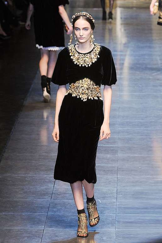 Regal Gold Toned Collections Dolce Gabbana Fall 2012