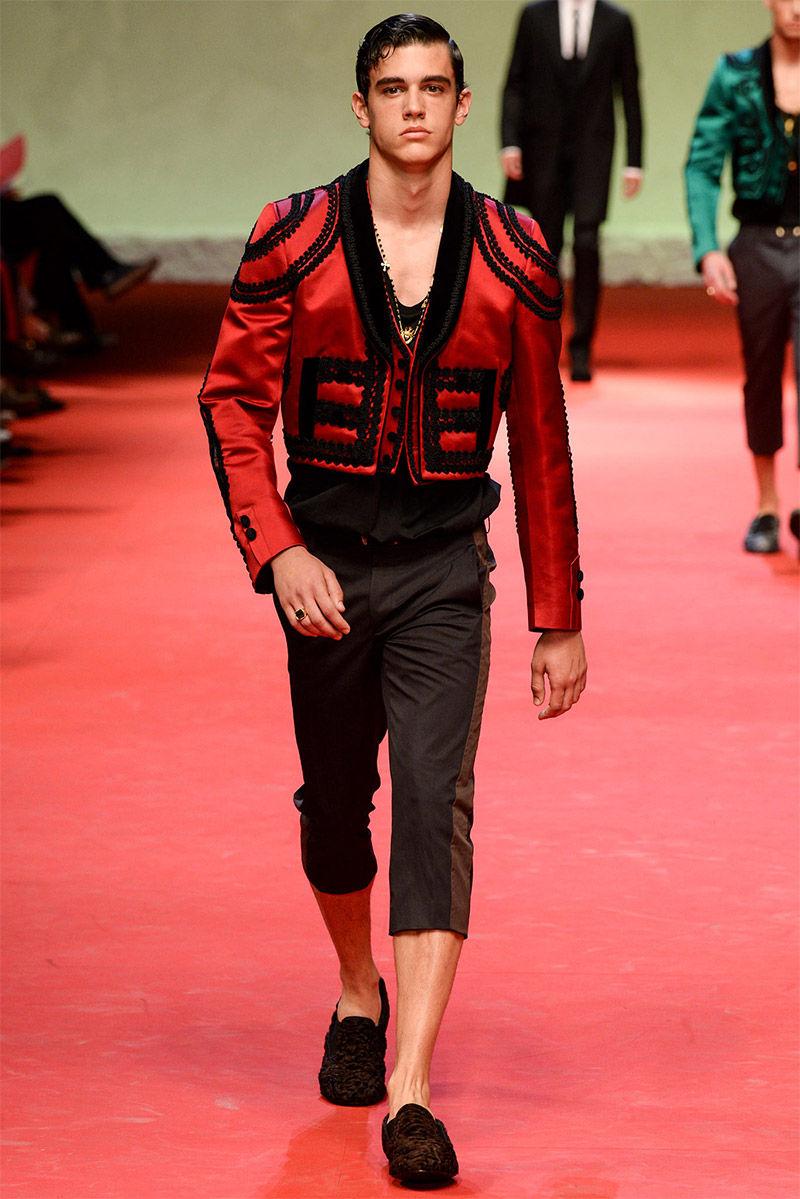 modern matador menswear dolce amp gabbana springsummer 2015
