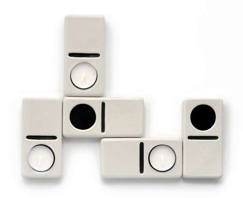Playful Tile Taper Holders