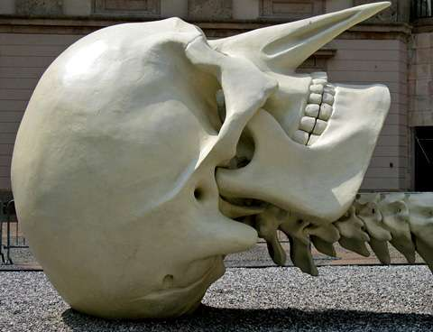 Gigantic Skeleton Sculptures