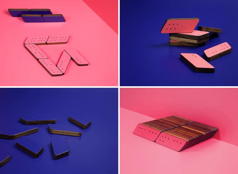 Diagonal Neon Dominos