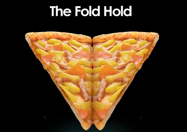 Foldable Pizza Ads