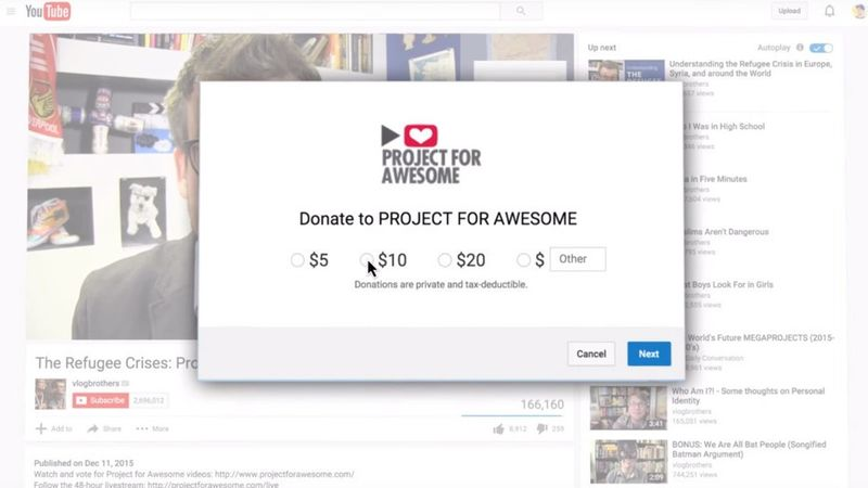 Charitable Video Features