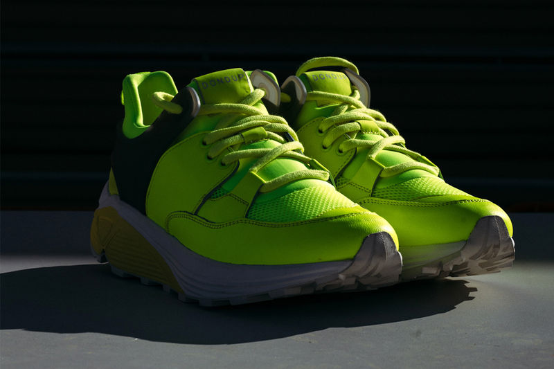 Neon-Hued Chunky Running Shoes