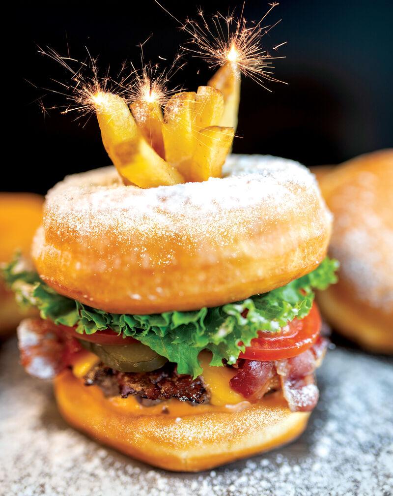 Savory Donut Burgers