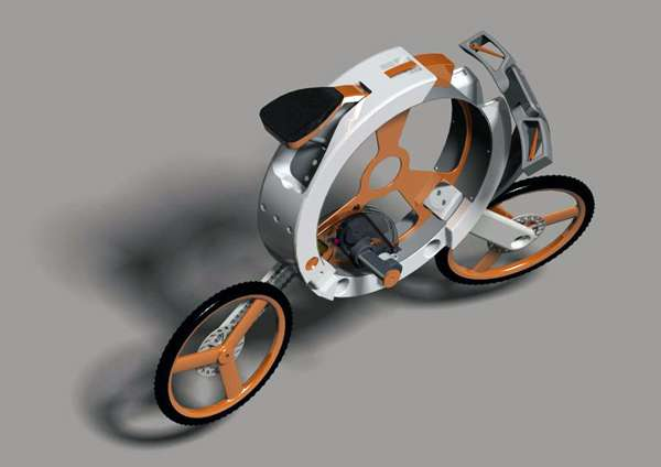 Disc-Stowed Two-Wheelers