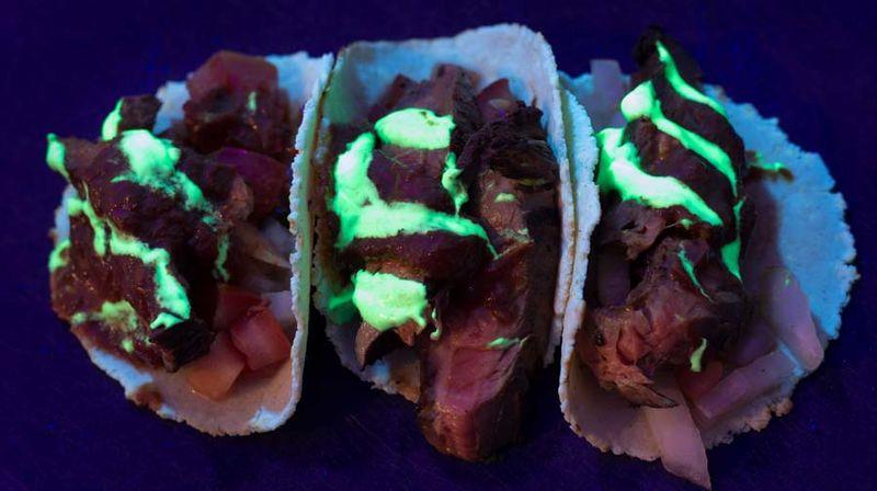 Glow-in-the-Dark Taco Menus