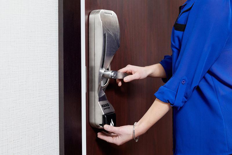Sanitizing Door Handles