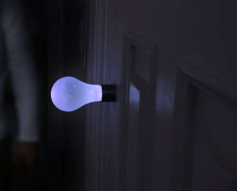 Light Bulb Door Handles The Knob Light Uses Kinetic Energy