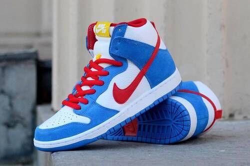 Cartoon-Inspired Hi-Top Sneakers