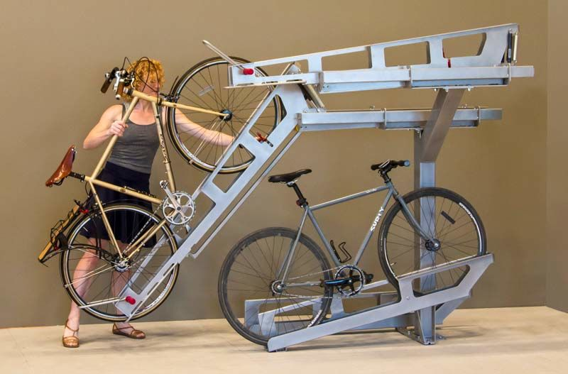 Double-Decker Bike Racks
