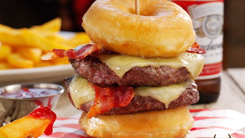 Donut Double Cheeseburgers