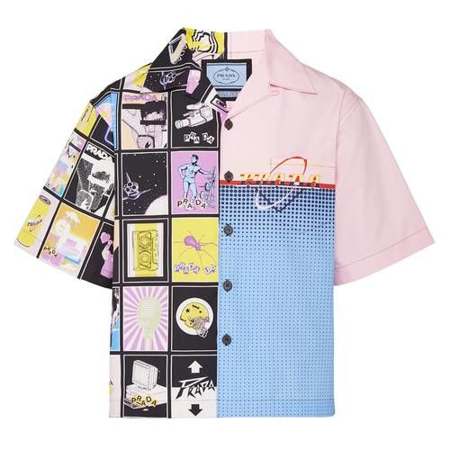 Graphic-Adorned Bowling Shirts