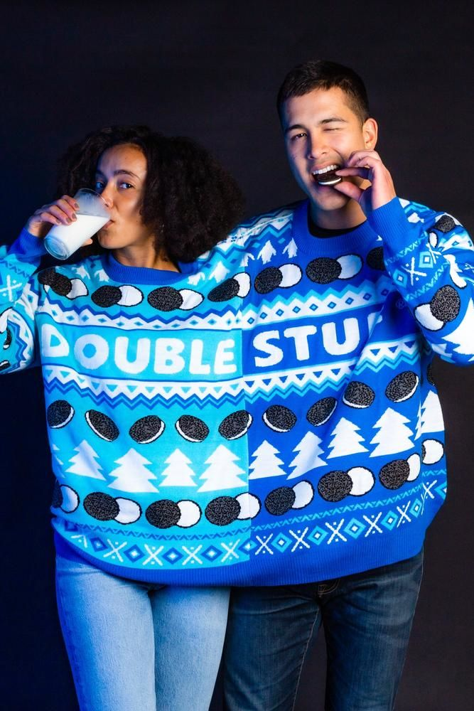 Two-Person Christmas Sweaters - The Double Stuf Oreo Christmas Sweater is a Two-Person Operation (TrendHunter.com)