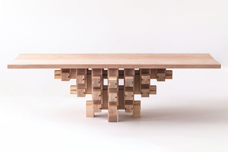 Chinese Architecture-Inspired Tables