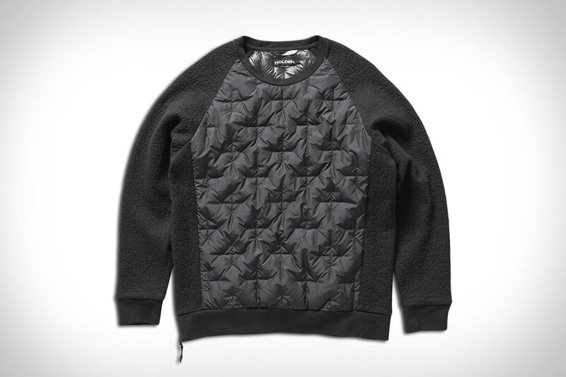 Down-Insulated Crew Neck Sweaters