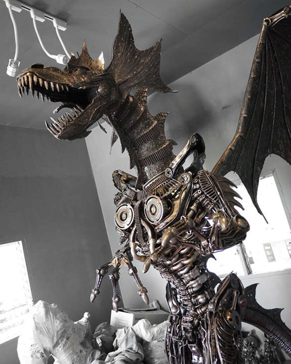 Mythical Steampunk Statues