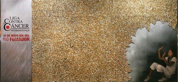 15,000 Cigarette Butts as Art