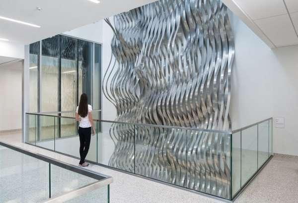 Undulating Metal Installations Draper By Rob Ley