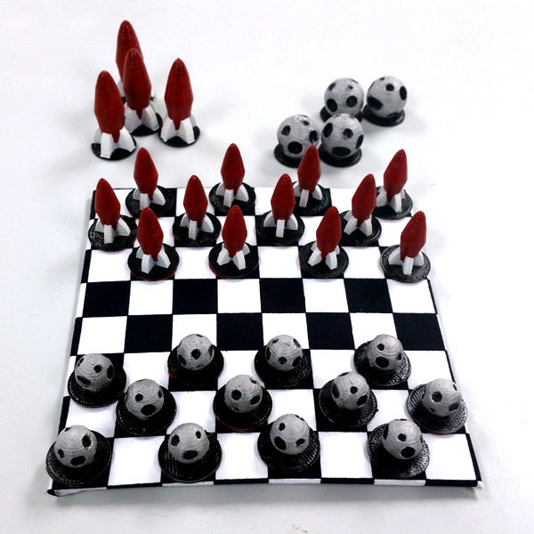 3D-Printed Checkerboards