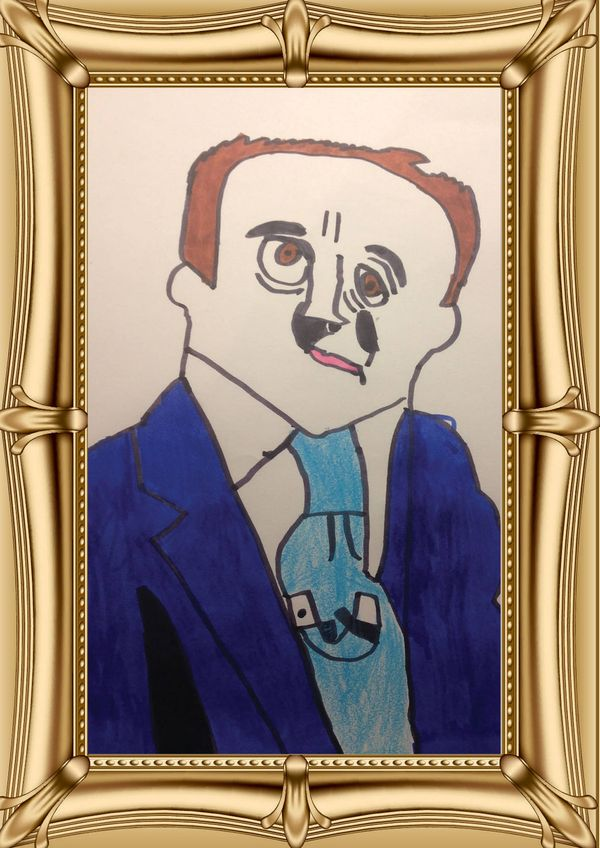 Kid-Drawn Political Portraits